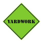 Yardwork Sign — Stock Photo