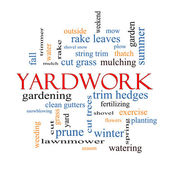 Yardwork Word Cloud Concept — Stock Photo