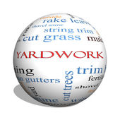 Yardwork 3D sphere Word Cloud Concept — Stock Photo