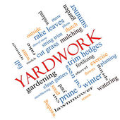 Yardwork Word Cloud Concept Angled — Stock Photo
