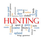 Hunting Word Cloud Concept — Stock Photo