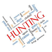 Hunting Word Cloud Concept angled — Stock Photo