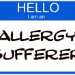 Hello I am an Allergy Sufferer — Стоковое фото