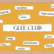 Glee Club Corkboard Word Concept — Foto de stock #41659497