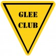 Zdjęcie stockowe: Glee Club Triangle Sign