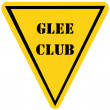 Glee Club Triangle Sign — Stok Fotoğraf #41659585