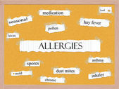 Allergies Corkboard Word Concept — Stock Photo