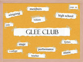 Glee Club Corkboard Word Concept — Stock fotografie