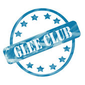 Blue Weathered Glee Club Stamp Circle and Stars — Stock Photo
