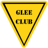 Glee Club Triangle Sign — Zdjęcie stockowe