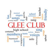 Glee Club Word Cloud Concept — 图库照片