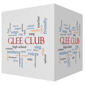 Glee Club 3D cube Word Cloud Concept — Stock fotografie