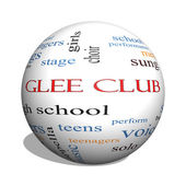 Glee Club 3D sphere Word Cloud Concept — Zdjęcie stockowe