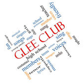 Glee Club Word Cloud Concept Angled — 图库照片