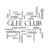 Glee Club Word Cloud Concept in black and white — Foto de Stock