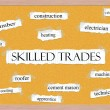 Stock Photo: Skilled Trades Corkboard Word Concept