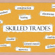 Skilled Trades Corkboard Word Concept — Photo #41720905