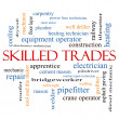 图库照片: Skilled Trades Word Cloud Concept
