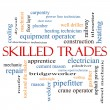 Stock Photo: Skilled Trades Word Cloud Concept