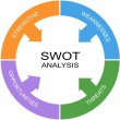 SWOT Analysis Word Circle Concept — Stock Photo #41721073