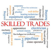 Skilled Trades Word Cloud Concept — Stock Photo