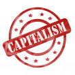 Stock Photo: Red Weathered Capitalism Stamp Circles and Stars