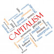 Stock Photo: Capitalism Word Cloud Concept Angled