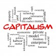 Stock Photo: Capitalism Word Cloud Concept in red caps