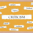 Criticism Corkboard Word Concept — Stock Photo #41972883