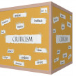 Criticism 3D cube Corkboard Word Concept — Stock Photo #41972931