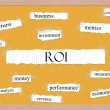 Stock Photo: ROI Corkboard Word Concept