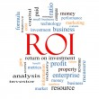 Stock Photo: ROI Word Cloud Concept