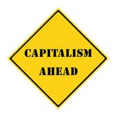Capitalism Ahead Sign — Stock Photo