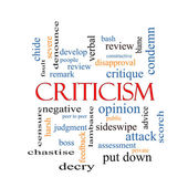 Criticism Word Cloud Concept — Stockfoto