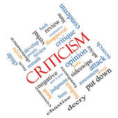 Criticism Word Cloud Concept Angled — Foto Stock