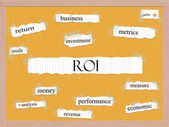 ROI Corkboard Word Concept — Stock Photo