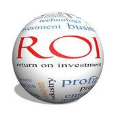 ROI 3D sphere Word Cloud Concept — Stock Photo