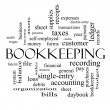 Bookkeeping Word Cloud Concept in black and white — Stock Photo #42039841