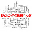 Bookkeeping Word Cloud Concept in red caps — Stock Photo #42039845