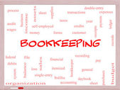 Bookkeeping Word Cloud Concept on a Whiteboard — Stock Photo