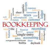 Bookkeeping Word Cloud Concept — Stock Photo