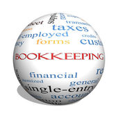 Bookkeeping 3D sphere Word Cloud Concept — Stock Photo