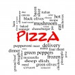 Pizza Word Cloud Concept in red caps — Stock Photo #42040963
