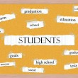 Students Corkboard Word Concept — Stock Photo #42041295