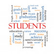 Stock Photo: Students Word Cloud Concept