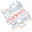 Students Word Cloud Concept Angled — Stock Photo #42041465