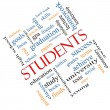 Students Word Cloud Concept Angled — Stock Photo