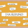 Tax Refund Corkboard Word Concept — Stock Photo #42041579