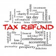 Tax Refund Word Cloud Concept in red caps — Stock Photo #42041945