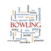 Bowling Word Cloud Concept — Foto de Stock